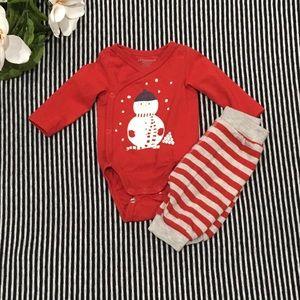 H&M Snowman Newborn Outfit